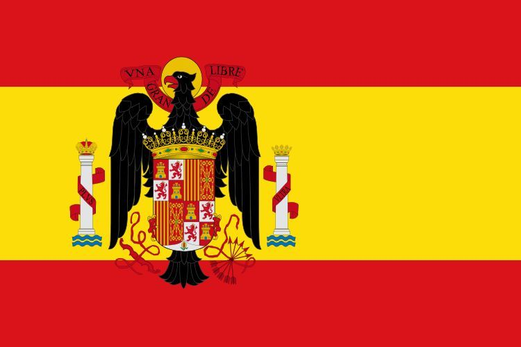 ¿Que tiempos de España usaba esa bandera?