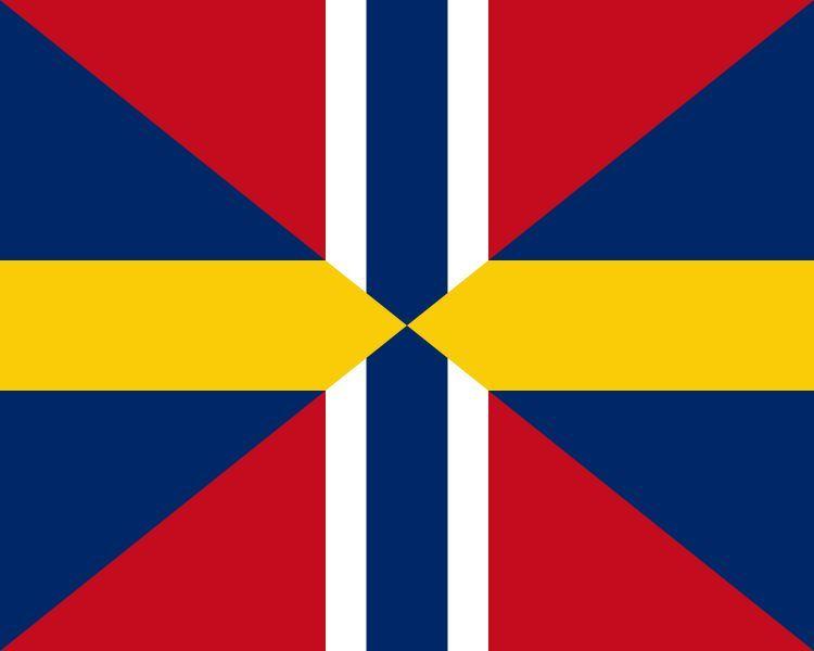 Vamos hacia al norte de Europa, ¿Que pais usaba esa bandera?