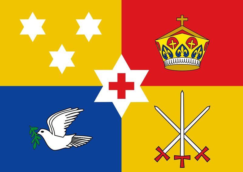A partir de ahí zarpamos hacia américa y acabamos el test, ¿Que imperio pertenecia esa bandera?
