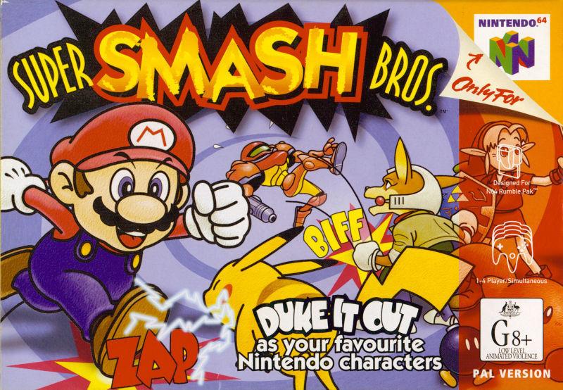 ¿Cuántos personajes tiene el Super Smash Bros 64?