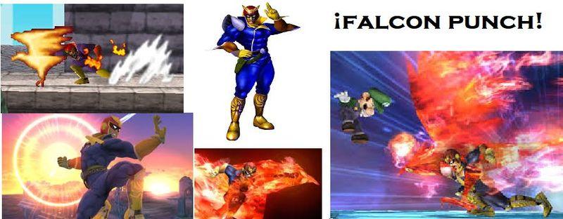 ¿Cuánto daño hace el Falcon Punch en el Super Smash Bros de la Wii U?