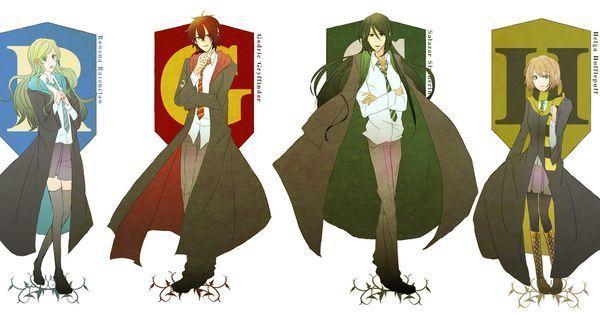 29125 - ¿En qué casa de Hogwarts pondrías a estos personajes de anime?