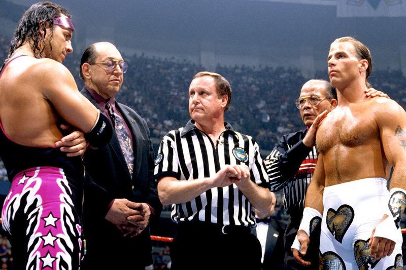 Bret Hart vs Shawn Michaels