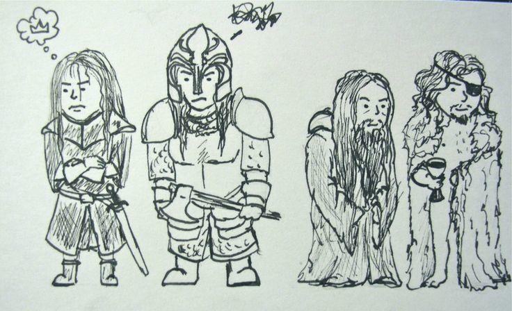 ¿Cómo se llaman los 4 hijos de lord Quellon Greyjoy que llegaron a la adultez?