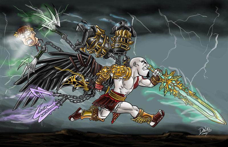 Número total de armas que ha usado Kratos en la saga hasta God of War 3.