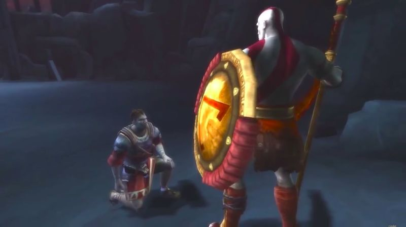 ¿Cuál es el único personaje que ayuda a Kratos a enfrentarse a un jefe?