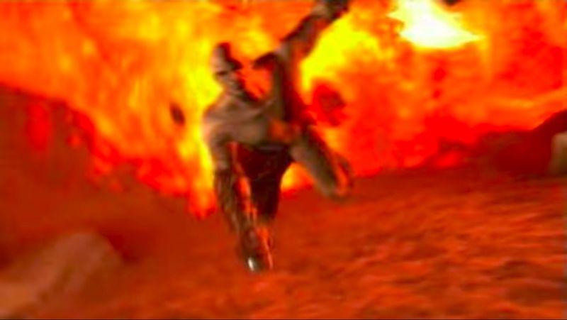 ¿Cómo se llama la localización en la que Kratos cae luego de que Atlantis es destruida?
