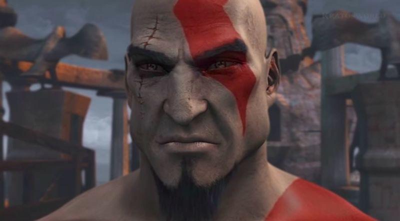 ¿Qué detalles visuales van cambiando en Kratos a través de los juegos?
