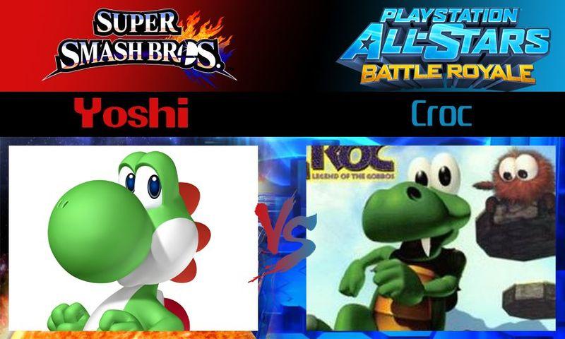 ¿Quién ganaría entre Yoshi y Croc?