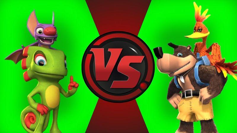 Batalla Doble ¿Quién ganaria entre Banjo&Kazooie y Yooka&Laylee?