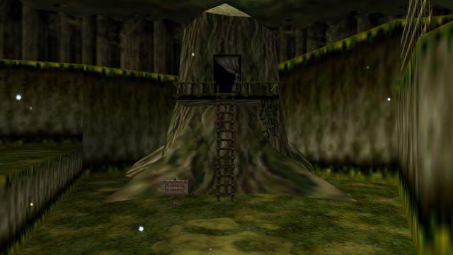 Vayamos al Bosque Kokiri: en la casa de Link hay un dibujo en el tronco del árbol. ¿De qué dibujo se trata?
