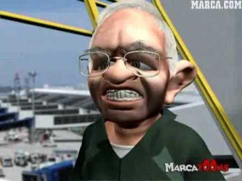 ¿Cómo suele llamar Luis Aragonés a los periodistas en Marcatoons?