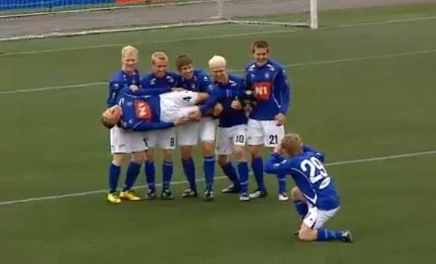 ¿Cómo se llama el equipo islandés que se hizo famoso por sus peculiares celebraciones de gol?