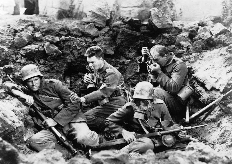 ¿Que tipo de arma predominó en la primera guerra mundial?