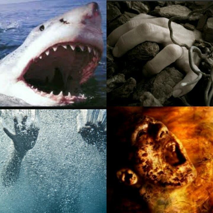 Morir quemado, ahogado, enterrado vivo o devorado por un animal