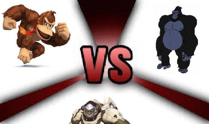 Batalla de tres¿Quién ganaría entre Donkey Kong , Winston y Grodd?