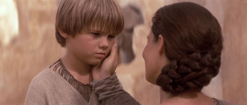 La despedida de Anakin y su madre Shmi
