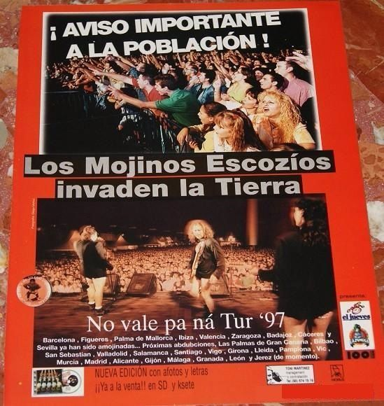 ¿Con qué cantante español tuvieron un rifirrafe?