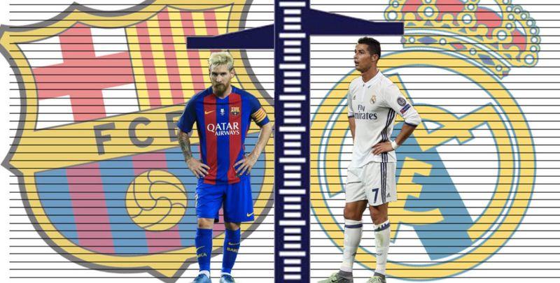 30789 - Barcelona vs Real Madrid: ¿Qué jugador del Clásico es más alto?