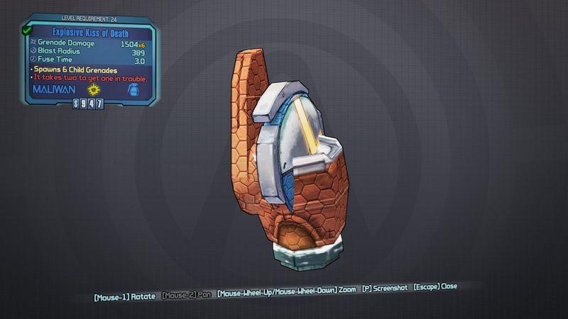 ¿Qué granada legendaria puede explotar múltiples veces?