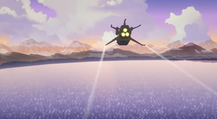 ¿Cómo se llama el lago que sobrevuelan Weiss y Pilot Boy?