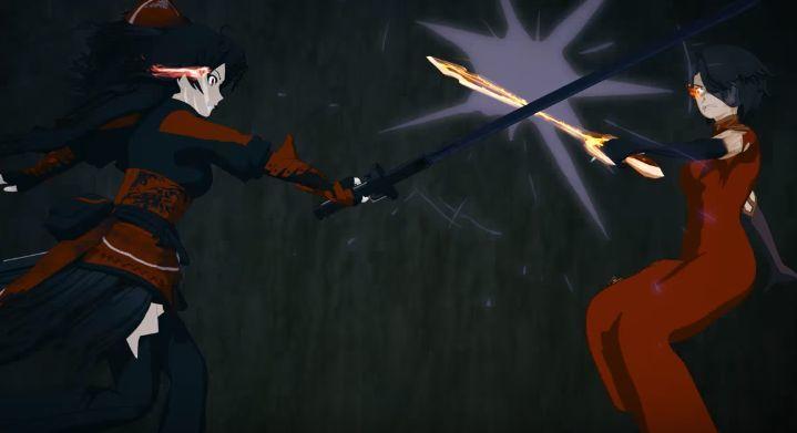 ¿Qué elementos utilizan entre Raven y Cinder durante esta pelea?