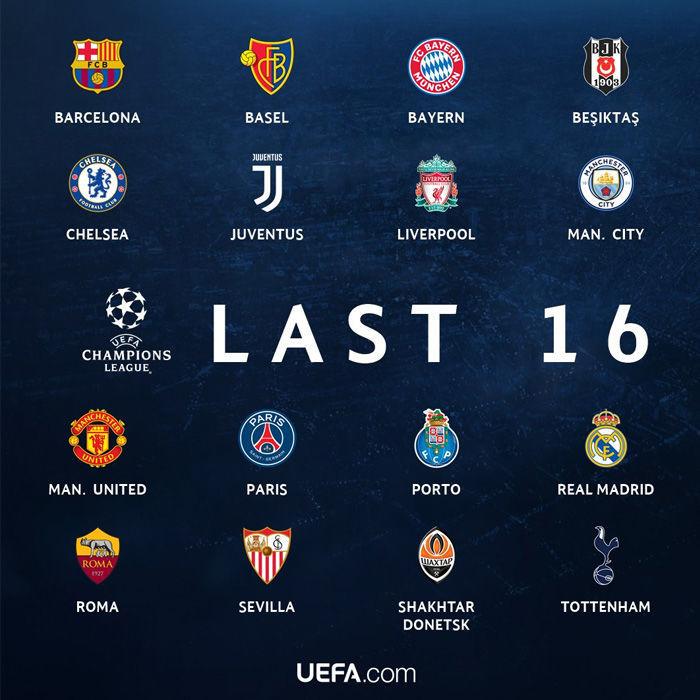 31220 - ¿Quién crees que serán los victoriosos en sus respectivos partidos de ida de los octavos de final de la champions?