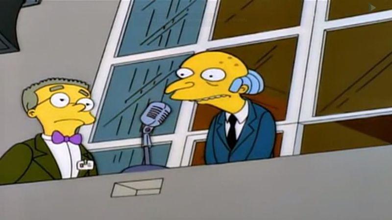 El Sr. Burns está entregando el premio del empleado de la semana. ¿Qué pasa en este capítulo?