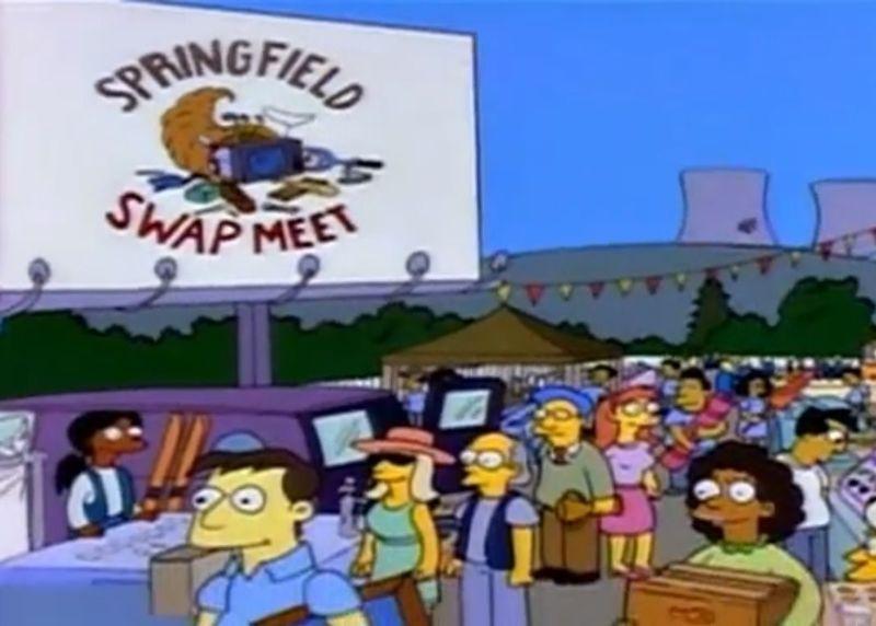 Estamos en el mercadillo de intercambio de Springfield. ¿Qué sucede en este episodio?