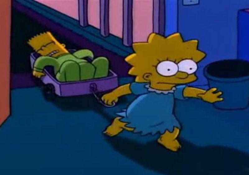 Lisa lleva a Bart a la habitación de sus padres por la noche porque parece que este está muerto. ¿Qué pasa en este capítulo?