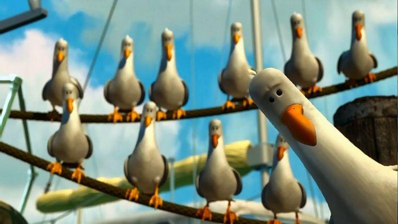 ¿Qué palabra repiten las gaviotas de Buscando a Nemo?