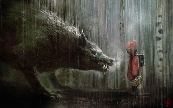 Empezaremos con Caperucita, ¿qué le ocurre a la pequeña Caperucita en la versión original del cuento?