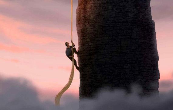 ¿Qué ocurre cuando el príncipe trata de volver a subir a la torre?