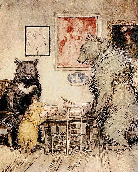 La pequeña Ricitos de oro cae exhausta en la cama del pequeño de los osos tras comer, ¿qué ocurre cuando despierta?