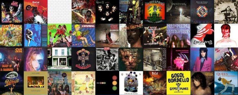 31520 - ¿Cuál es la última palabra en el título de estos discos de rock?