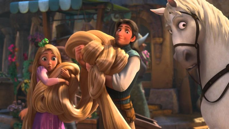 Esta no puede faltar: ¿cuánto mide el cabello de Rapunzel?