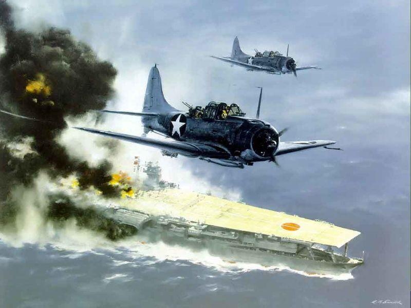 ¿Qué avión no participó en la batalla de Midway?
