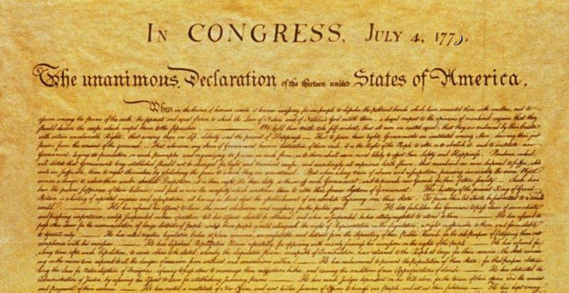 ¿Quién escribió la declaración de independencia?