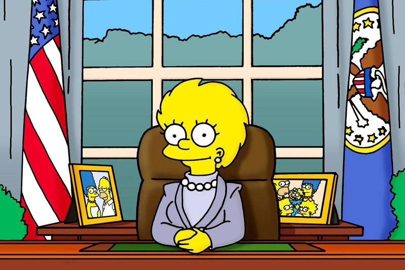 ¿Quién fue el presidente antes de que Lisa asumiera el cargo en el futuro?