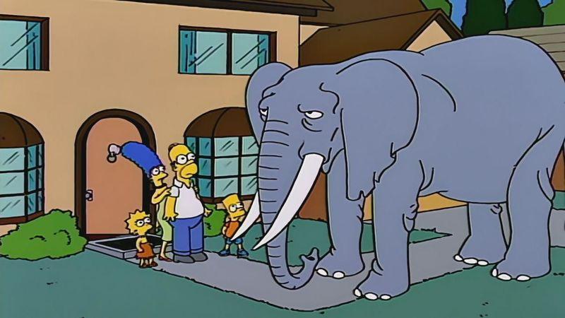 Sería el colmo que no se supieran el nombre de la mascota más grande que ha tenido Bart