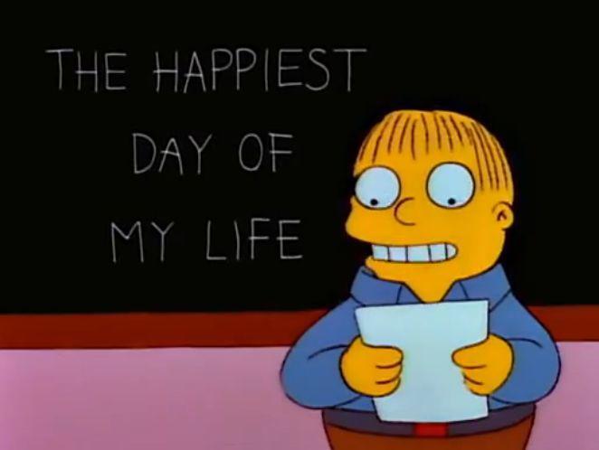 ¿Cuál fue el día más feliz de la vida de Ralph Wiggum?