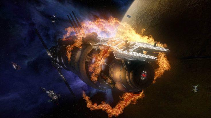 Una vez hecho el sabotaje la nave empieza a explotar. El viajero llega justo a tiempo. ¿Qué le dices?