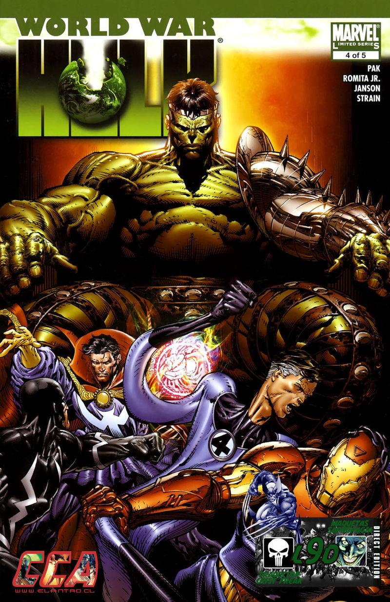 World War Hulk(2007) ¿Por qué Hulk va hacia la Tierra a vengarse de los Illuminati?