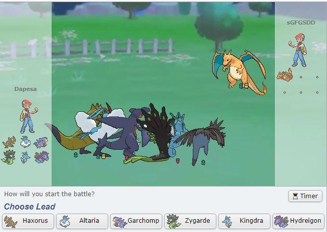 Teniendo en cuenta que es un Mega Charizard X y que ninguno de tus pokémon tiene objeto, ¿qué pokémon deberíamos usar?