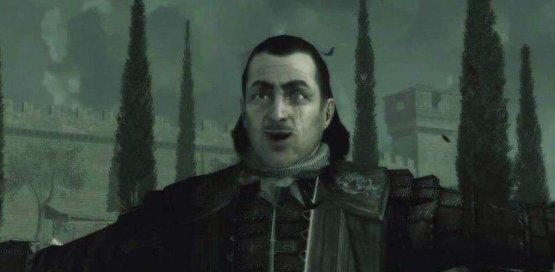 ¿Qué dice Mario Auditore en esta escena donde se reencuentra con su sobrino Ezio?