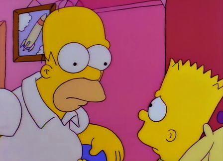 ¿Qué le acaba de decir Homer a Bart en ese momento?