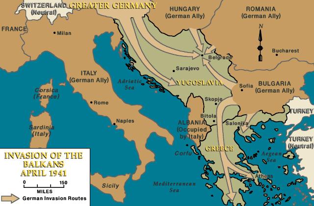 ¿A qué se debió la Invasión de Yugoslavia?