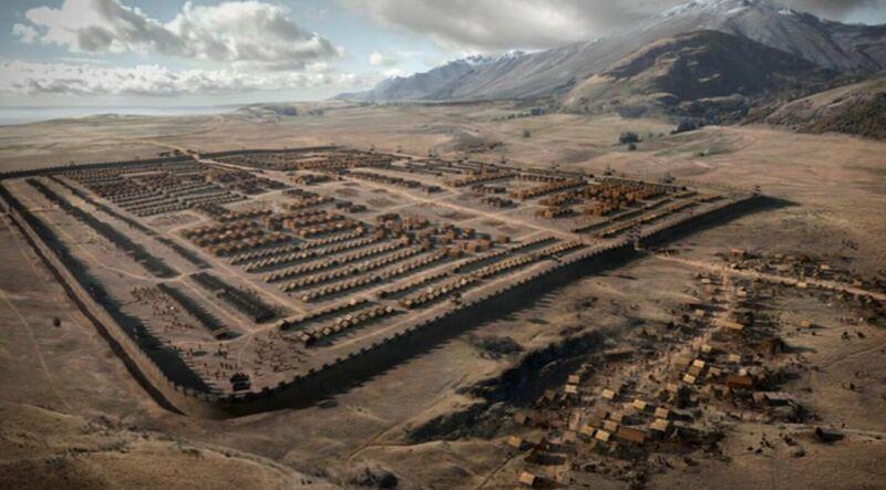 Al momento de atravesar el portal notáis 3 cosas: no habéis muerto, todo es extraño y tenéis en frente un gran campamento.