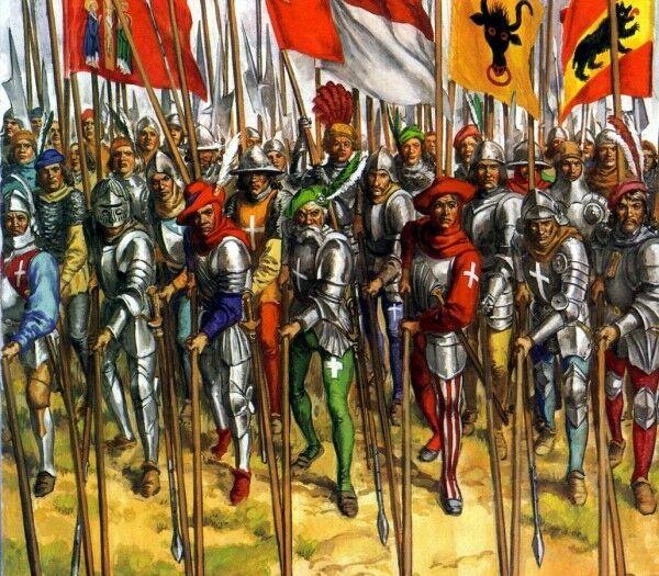 Al entrar, observáis que el ejército es de varios miles, no veis armas de pólvora pero si armas y formaciones renacentistas.