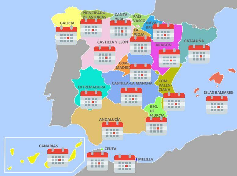 33393 - ¿Cuál es la festividad de cada comunidad autónoma de España?